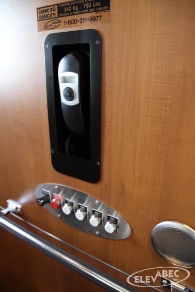 Poste commande ascenseur de maison
