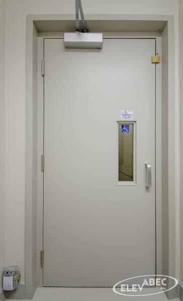 Porte coupe-feu ascenseur (Plate-forme élévatrice) Elevabec